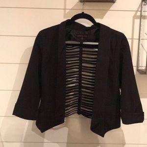 Black Blazer with cute back detail- Medium